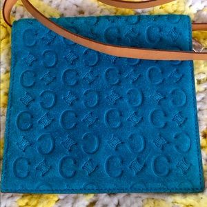 Celine Bags - Celine suede shoulder wallet